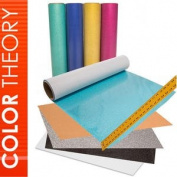 Colour Theory Glitter Heat Transfer Vinyl (HTV), 30cm x 50cm 12-Colour Starter BUNDLE