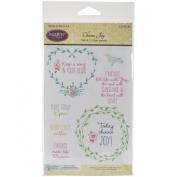 Justrite Papercraft Choose Joy Clear Stamp Set, 10cm x 15cm