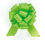 Pull String Bows 13cm 20 Loops Lime Green Pkg/10