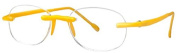Scojo New York Unisex Gels 2.25 Yellow Neon Reading Glasses