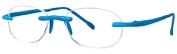 Scojo New York Unisex Gels 2.25 Blue Neon Reading Glasses