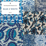 Blue and White 2017 Wall Calendar