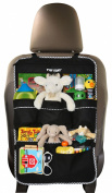 Premium Backseat Organiser for Kids, Cars - Large Size, FREE e-book, #1 Kids' Accessories, Car Seat Protector-Kick Mat, Made of Durable Material...