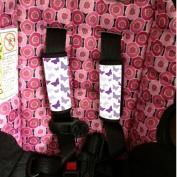 Baby Seat Strap Covers Purple Butterflies Sherrys Stock TM
