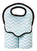 Turquoise Chevron Double Baby Bottle Bag