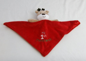 Baby's My First Christmas Plush Reindeer Snuggle Buddy Blanket Rattle