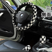 High Quality Winter Nylon Steering Wheel Cover Protector+Handbrake Sleeve+File Row Sets For Your Car