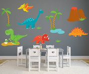 Dinosaur Fabric Wall Decal - Nursery Wall Decals - Baby Room Wall Decor - Dinosaur Stickers - Pinkie Penguin