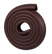 Ivenf Multi-functional L-Shape Edge & Corner Guards Cushion 2m / 6.56ft, Extra Dense Extra Protection for Baby, Brown
