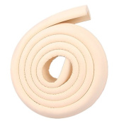 Ivenf Multi-functional L-Shape Edge & Corner Guards Cushion 2m / 6.56ft, Extra Dense Extra Protection for Baby, Beige
