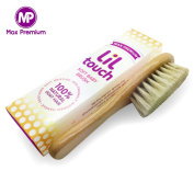 Baby Brush - #1 Fine Lil Touch Baby Brush | 100 % Natural, Soft Goat Hair | Eco Friendly Original Beech Wood | Perfect First Brush For Baby - By Max Premium