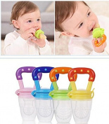 Efbock® Nipple Fresh Food Milk Nibbler Feeder Feeding Tool Safe Baby Supplies Toys 2pcs