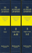 All England Law Reports Consolidated Tables and Index 1936-2016