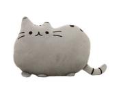 Bigood Cartoon Creative 3D Cat Cookie Throw Pillow Sleep Cushion Grey