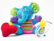 VIBRATION RATTLE TOY Sensillo Colourful Doggie Elephant Learning Grasp Toy 23368 _ELEPHANT