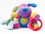 VIBRATION RATTLE TOY Sensillo Colourful Doggie Elephant Learning Grasp Toy 23368 _DOGGY