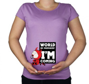 Maternity Pregnancy size 10 - 20 Cotton Baby Devil Funny Print Top Tunic T-Shirt