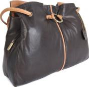 Gigi Othello Two Tone Soft Leather 3 Section Shoulder Handbag Various Colours - Best Seller 4323