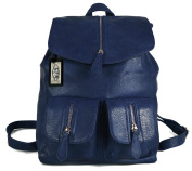 GFM Multi pocketed Small Faux Leather Fashion Backpack Rucksack - Available in various colours
