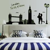 Romantic Lover unter the Streetlight Wall Decal Home Sticker House Decoration WallPaper Removable Living Dinning Room Bedroom Kitchen Art Picture Murals DIY Stick Girls Boys kids Nursery Baby Playroom Decoration