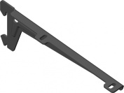 Element System Winkelträger Bracket 1-row, Set of 2, 5 settings, 3 colours, Length 18 CM for Wooden Floors, Wall Rail, Black, 18133-00046