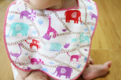 Animal Drool Bib - Pink