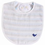 Iori Baby Stripe Drool Bib - Blue