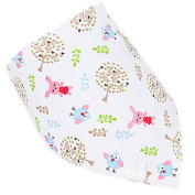 Sanwood Baby Boy Girl Kids Saliva Towel Buttons Bib Feeding Bandana