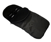 UNIVERSAL FOOTMUFF Baby Cosy Toes Fit All Pushchair Buggy Car Seat PLAIN COLOUR _BLACK