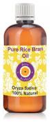 Pure Rice Bran Oil 100ml (Oryza Sativa) 100% Natural Cold Pressed