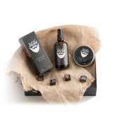 Premium Beard Grooming Set by Gentleman Jacks with Large 100ml Beard Oil and 60ml Beard Balm