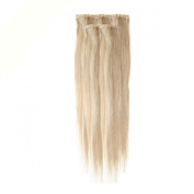 Clip In Hair | Human Hair Extensions | Full Head | 46cm Light Brown Blond Blend Col
