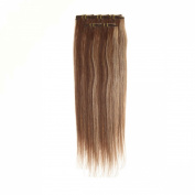 Clip In Hair | Human Hair Extensions | Full Head | 46cm Blonde Brown Mix Col