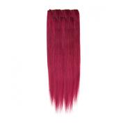 Clip In Hair   Human Hair Extensions   Full Head   46cm Fiery Auburn