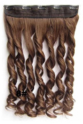 Mybeantore 20'' (50cm) Curly Clip In Synthetic Hair Extensions 100g one peice Heat Resistent like human hair 8 Colour
