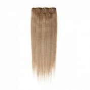 Clip In Hair | Human Hair Extensions | Full Head | 46cm Light Mousey Brown