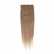 Clip In Hair | Human Hair Extensions | Full Head | 46cm Mousey Brown