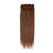 Clip In Hair | Human Hair Extensions | Full Head | 46cm Mocha Brown
