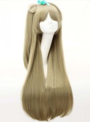 Etruke Long Straight Women Synthetic Hair Love live Clip On Ponytail Cosplay Wigs