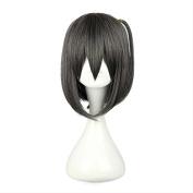 Etruke Short Grey Lolita Tsukiko Tsutsukakushi Hair Cosplay Wigs