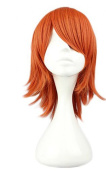 Etruke Short Orange Hair Anime ONE Piece Nami Cosplay Wigs