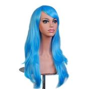 Etruke Women Long Hair Wig Wavy Synthetic Anime Cosplay Wigs