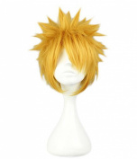 Etruke Short Anime Gold Short Straight Costume Uzumaki Cosplay Wigs