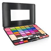 Cameleon Laptop Style MakeUp Kit 8075 (35x EyeShadow, 4x Blusher, 2x Powder Cake, 6x Lipgloss) -
