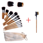 Makeup Brush Set Professional Bamboo Handle Cosmetics Brushes Kit