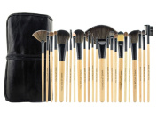Aivtalk 24pcs Professional Cosmetic Makeup Brush Set Kit Brushes & Tools with Make Up Bag Case