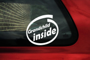 Grandchild inside sticker - baby on board car sign