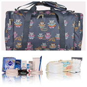 Pre-packed Essentials hospital/maternity/holdall for Mum & Baby - navy owls - FREE NEXT DAY DELIVERY