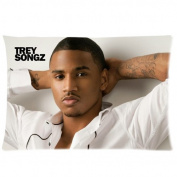 Trey Songz Custom Standard Zippered Pillow Cases 20x30 (Two Sides)SFU-T17