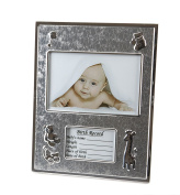 Hugs & More Baby Photo Frame with Birth Record Gift